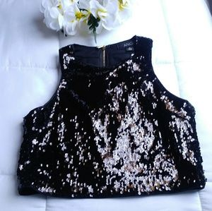 ANGL SPARKLY TANK TOP.SIZE SMALL.COLOR BLACK